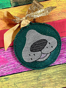 Dog Face Christmas Ornament for 4x4 hoops