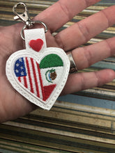 Mexico America LOVE snap tab In The Hoop embroidery design