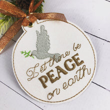 Peace on Earth Christmas Ornament for 4x4 hoops