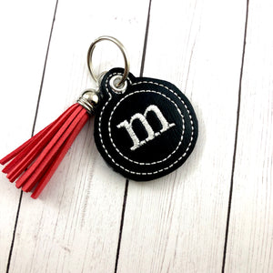Typewriter Alphabet Eyelet Charm Tag SET