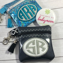 Monogram Oval Zipper Pouch 4x4