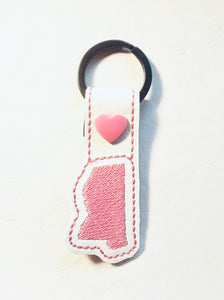 Tiny Mississippi snap tab In The Hoop embroidery design