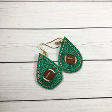 Football Teardrop Earrings embroidery design