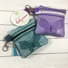 Butterfly Zipper Pouch 4x4