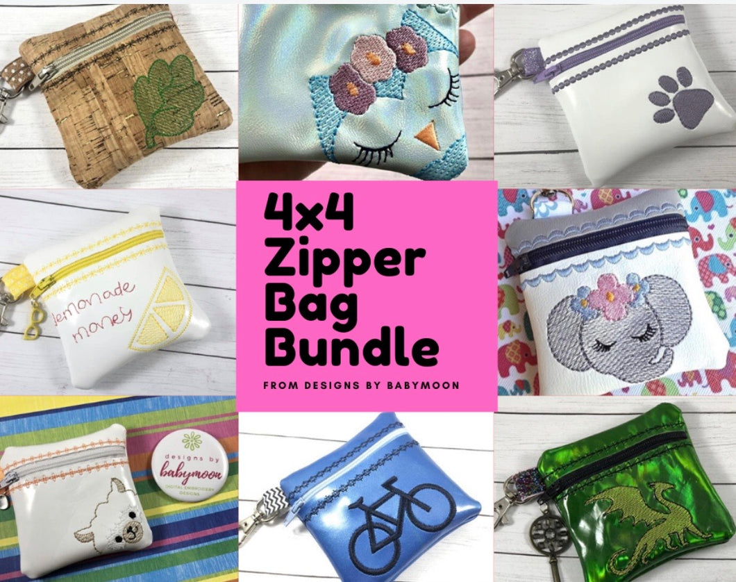 4x4 Zipper Bag BUNDLE Design Set