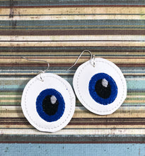 I See You Eyeball STITCHING Earrings embroidery design