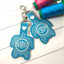 Monogram BLANK Sea Turtle tag snap tab for 4x4 hoops