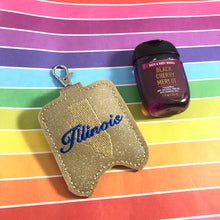 Illinois Hand Sanitizer Holder Snap Tab Version In the Hoop Embroidery Project 1 oz BBW for 5x7 hoops