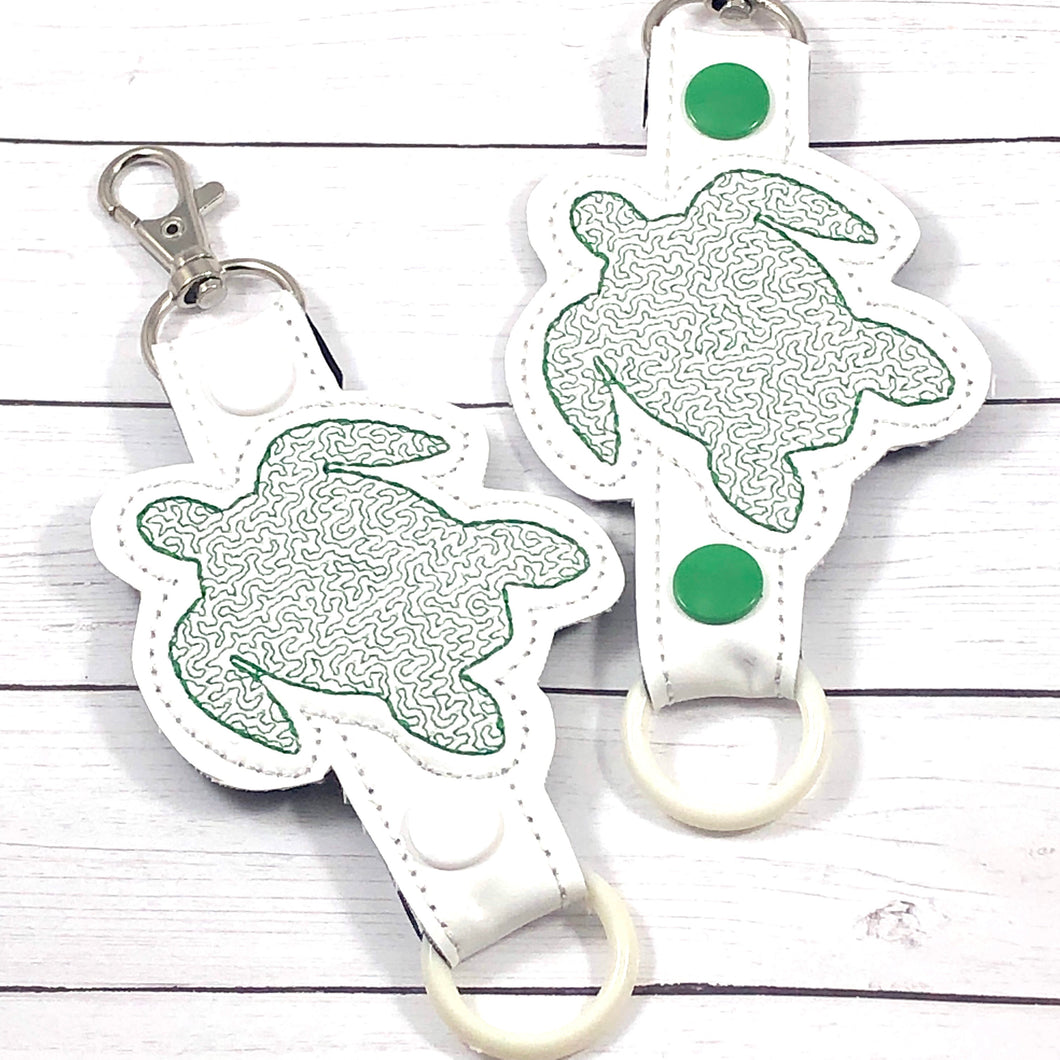 Sea Turtle Water Bottle Holder Double Snap Tab