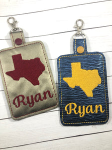 Texas Double Sided Luggage Tag Design for 5x7 Hoops