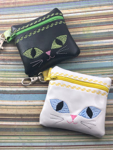 Cat Face Zipper Pouch 4x4