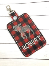 Moose Double Sided Luggage Tag Design for 5x7 Hoops