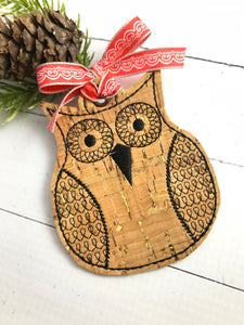 Groovy Owl Christmas Ornament for 4x4 hoops