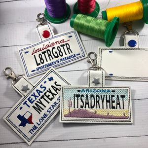 Arizona Plate Embroidery Snap Tab