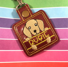 Doxie Name Tag for 4x4 hoops