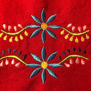 Poinsettia Floral 4x4 Embroidery Design