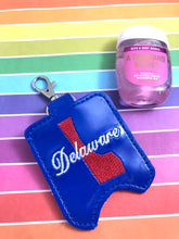 Delaware Hand Sanitizer Holder Snap Tab Version In the Hoop Embroidery Project 1 oz BBW for 5x7 hoops