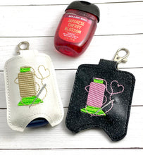 Sewing Love Hand Sanitizer Holder Snap Tab Version In the Hoop Embroidery Project 1 oz BBW for 5x7 hoops