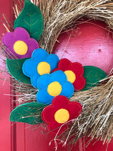 Fiesta Flowers and Leaves Felties for Wreaths or Banners