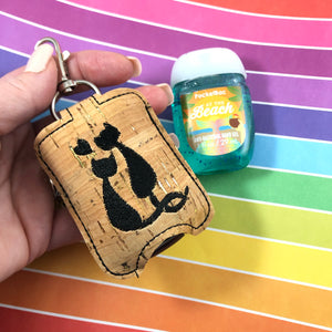 Love Cats Hand Sanitizer Holder Snap Tab In the Hoop Embroidery Project