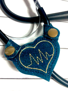 Stethoscope Yoke In the Hoop Snap Tab Project Heart EKG