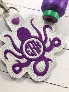 Monogram BLANK Octopus snap tab for 4x4 hoops