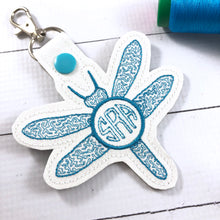 Monogram BLANK Dragonfly tag snap tab for 4x4 hoops