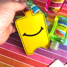 NEW SIZE Smile Hand Sanitizer Holder Snap Tab Version In the Hoop Embroidery Project 3 oz DT for 5x7 hoops