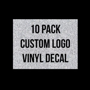 10 pack-  Made to Order Logo DECALS size 2 to 3 inches