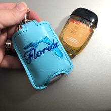 Florida Hand Sanitizer Holder Snap Tab Version In the Hoop Embroidery Project 1 oz BBW for 5x7 hoops