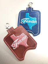 Texas Hand Sanitizer Holder Snap Tab Version In the Hoop Embroidery Project 1 oz BBW for 5x7 hoops