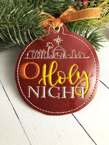 O Holy Night Christmas Ornament for 4x4 hoops