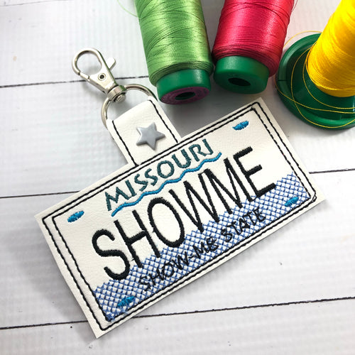 Missouri Plate Embroidery Snap Tab