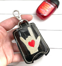 ILY Sign Language Sanitizer Holder Snap Tab Version In the Hoop Embroidery Project 1 oz BBW for 5x7 hoops