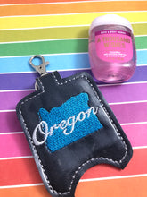 Oregon Hand Sanitizer Holder Snap Tab Version In the Hoop Embroidery Project 1 oz BBW for 5x7 hoops