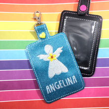 Angel Double Sided Luggage Tag Design for 5x7 Hoops