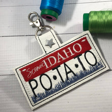 Idaho Plate Embroidery Snap Tab
