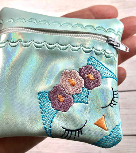 Owl Face Zipper Pouch 4x4