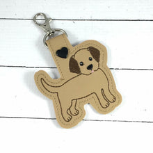 Labrador Puppy Body Snap tab In the Hoop Embroidery Design