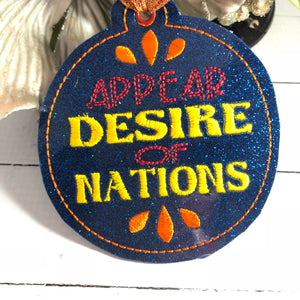 Appear Desire Of Nations Christmas Ornament for 4x4 hoops