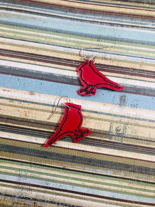 Cardinal Outline Earrings embroidery design