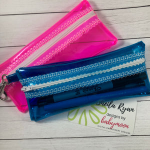 Clear Skinny Jelly Bag Zipper Pouch 5x7 and 6x10
