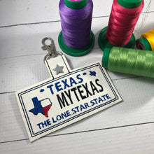 Texas Plate Embroidery Snap Tab
