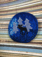 Moose and Trees Coaster In The Hoop Embroidery Project