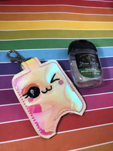 Winky Happy Hand Sanitizer Holder Snap Tab Version In the Hoop Embroidery Project 1 oz BBW for 5x7 hoops