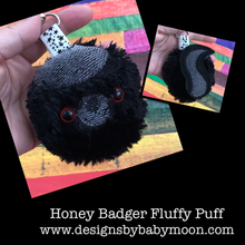 Honey Badger Fluffy Puff - In the Hoop Embroidery Design