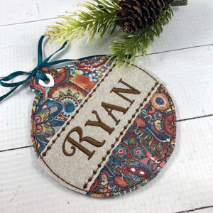 BLANK Applique Ornament for 4x4 hoops