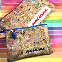 Notions Bag Side Zip Zipper Bags 5x7, and 6x10
