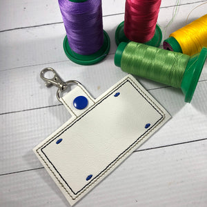 Blank License Plate Embroidery Snap Tab