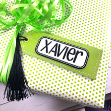 BLANK Applique Name Frame Bookmark Design for 4x4 hoops